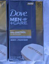 6 Bars - Dove Men Care Oil Control Body Face Bar Soap