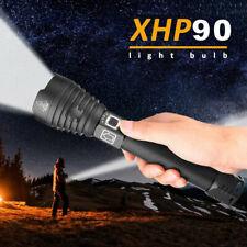 90000-500000Lumen Taschenlampe Zoombar XHP90 LED Wiederaufladbar Licht+26650Akku