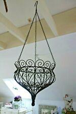 Shabby Wand Pflanz Blumenkasten Haus Garten Deko Metall Grün 23x36x12c Retro NEU
