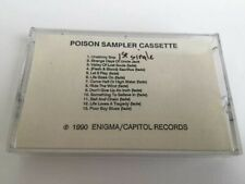 POISON SAMPLER CASSETTE - RARE - 1990 Enigma/Capitol - Flesh & Blood - CrO2