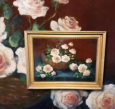 Rosen Stillleben Blumengemälde sign. HUGO JOHN (*1888) Pfälzer Maler. Ölgemälde