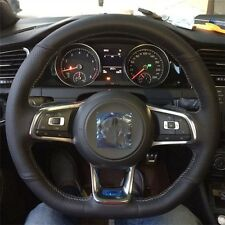 Top Layer Leather handmade Steering wheel covers For VW Golf 7 GTI Golf R MK7