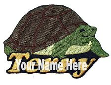 Tortoise Custom Iron-on Patch With Name Personalized Free