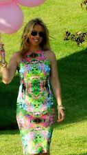 ZARA Botanical Floral Printed  Racer Back Body Con Midi Dress Extra Small XS