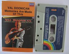 VAL DOONICAN MEMORIES ARE MADE OF THIS AUSTRALIAN RELEASE CASSETTE TAPE