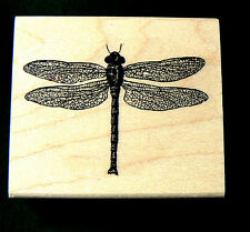P11 Dragonfly rubber stamp lace winged 2x1.75 WM