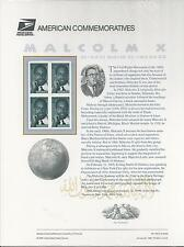 # 3273 MALCOLM X, CIVIL RIGHTS MOVEMENT. BLACK HERITAGE 1999 Commemorative Panel