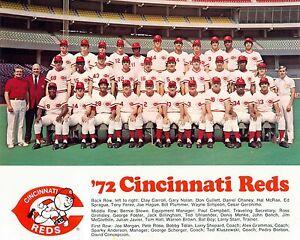 CINCINNATI REDS 1972 - NL Champs, 8x10 Color Team Photo
