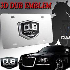 License Plate 3D Emblem Black & Chrome - DUB Edition