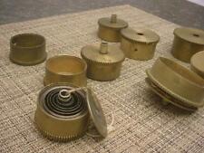 2.00 Lbs Lot Grandfather Regulator Clock Maker Brass MainSpring Barrels E935b