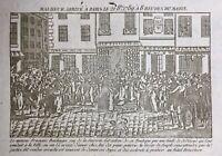 Émeute Populaire 1789 Rue de la Cité Boulangerie Gravure Révolution Française