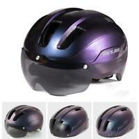 Fahrradhelm mit Schutzbrille e-Bike Helm Hartschale MTB Skatehelm Damen Herren