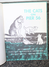 Vintage 1961 Book The Cats On Pier 56 Helen Kay Beautiful Illustrations