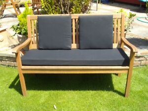 GARDEN BENCH CUSHION - MANY COLOURS - 4ft & 5ft - WITH OR WITHOUT BACK PADS