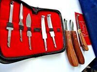 8 x Farrier Hoof Knife Set Premium Quality Farrier Tools + Eye Loop Knives