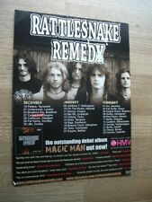 Rattlesnake Remedy UK tour dates 2007 - ORIGINAL MUSIC magazine advert 12 X 8