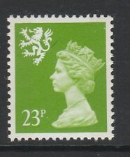 SPECIAL OFFER SCOTLAND 1971-93 23p BRIGHT GREEN 2 BANDS SG S68 MNH.