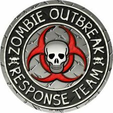 METAL SIGN Zombie outbreak response gift party decoration halloween C-637 spooky