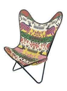 Handmade Rug Butterfly Chair - Multi Color Office Chair, Relaxing Chair S6-39