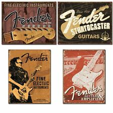 Fender Guitar Sign Bundle - Fine Electric Instruments with Headstock, Stratoc...