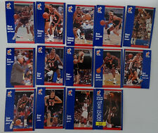 1991-92 Fleer Miami Heat Team Set Of 14 Basketball Cards