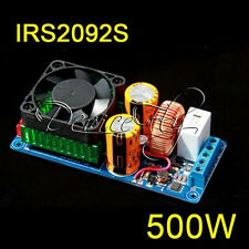 IRS2092S 500W High Power Class D HIFI Single Channel Audio Amplifier Board + FAN