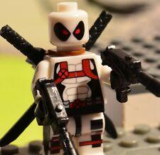 V1A Custom made for LEGO USA blocks WHITE X-Force DEADPOOL W/T UZI MARVEL X-men