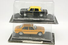 Ixo Presse 1/43 - Lot de 2 : Renault 8 Taxi Chili et Peugeot 504 Taxi Lagos