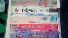 LOT of 5 VHS for KIDS Veggie Tales Madeline My Dog Skip A Simple Wish Mary Kate