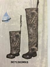 New Duck Commander High Lo Hip Waders size 8 Waterproof Realtree Max 5 (G)