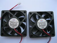 2 pcs Brushless DC Cooling Fan 9 Blade 12V 6015S 60x60x15mm 2Wire Sleeve Bearing