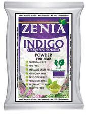 2 x 100g 2017 Zenia Indigo Powder (Indigofera Tinctoria) Hair / Beard Dye Color