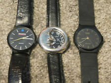 Black on Black Watch Lot (Lot of 3) all with fresh batteries Casio Collezio