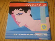 "LANDSCAPE 3 - YOU KNOW HOW TO HURT ME     7"" VINYL PS"