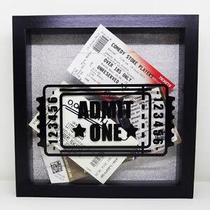 TICKET STUB collection display 3D money box frame home decor gift idea