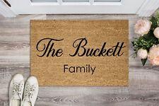 Personalised Doormat, Family name, wedding, gift, housewarming, Custom