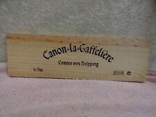 CHATEAU CANON LA GAFFELIERE WOOD WINE PANEL END