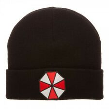 Authentic RESIDENT EVIL Umbrella Logo Embroidery Cuff Beanie Hat NEW