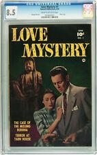LOVE MYSTERY #1  CGC VF+ 8.5 - 2nd HIGHEST CGC GRADE - VERY RARE - 1950 HORROR