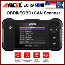 OBD2 EOBD Diagnostic Scanner Tool ABS Airbag SRS AT Reset Code Reader Scanner US