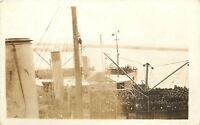 WWI~Navy~USS Manchuria~Passenger & Cargo Liner Became Troop Transport~RPPC~1918