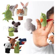 IKEA Set of 10 TITTA DJUR Animal Finger Puppets Soft Toys For Kids