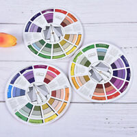 Professional Tattoo Nail Pigment 12 Color Wheel Paper Card Three-tier CRIT
