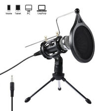 Professional Home Live Studio Condenser Microphone Vocal Recording Mic Stand Kit