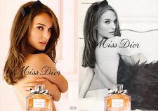 Modern Magazine Fragrance Advertisement MISS DIOR w/ Natalie Portman 031116
