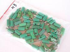 50 Stecker (grün) für Modellbau, u.a. von Märklin, Brawa