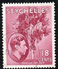 1938 Seychelles Sg 139c & 143 Madame Joseph forged Postmarks #387