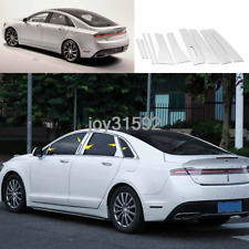 6p For Honda Accord 18 Auto Car Stainless Steel Window Bars Body Trims Refitting