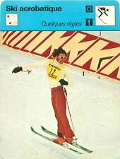 FICHE CARD Sport Sportif Ski Acrobatique Jury EFSA Ballet Hot-dog John Eaves 70s
