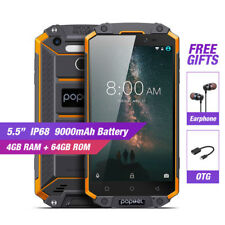 """4GB+64GB POPTEL P9000 Max Octa Core Mobile Phone 5.5"""" Android7.0 IP68 Waterproof"""